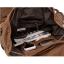 กระเป๋าเป้สะพายหลัง สีกาแฟ ผ้าแคนวาน กระเป๋าเป้ใบใหญ่สามารถใช้เป็นกระเป๋าเดินทางได้ จุของได้เยอะ thumbnail 3