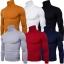 พร้อมส่ง เสื้อไหมพรมผู้ชาย สีแดง คอเต่า แขนยาว สเวตเตอร์ผู้ชาย แฟชั่นหน้าหนาว thumbnail 2