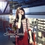 Set Knit Stripe Blouse Ornamental Fringe Sleeve with Clasper Skirty by Seoul Secret thumbnail 2