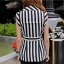 Black and white striped blazer-style set thumbnail 4