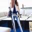 Lady Ribbon's Made Lady Jaime Sleeveless Bow Top and Skinny Striped Pants Set thumbnail 3
