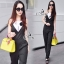 Sevy Hi Class Of Curve Smart Jumpsuit With Black Camellia Pin thumbnail 3