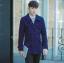 พร้อมส่ง เสื้อโค้ทผู้ชาย สีน้ำเงิน ผ้าวูลหนา ใส่กันหนาว ใส่เที่ยวต่างประเทศ thumbnail 1
