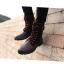 พร้อมส่ง รองเท้าบูทผู้ชาย รองเท้าหนัง PU แต่งกำมะหยี่ สีน้ำตาล แบบผู้เชือก มีสายรัดแข้ง ใส่เที่ยว ใส่ทำงาน ใส่สบาย thumbnail 7