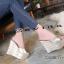 รองเท้าส้นเตารีดแฟชั่น แบบส้นตึกอันดับหมุดทองด้านหน้าส้นสูงประมาณ 4.5 นิ้ว thumbnail 3