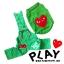 เสื้อหมา ชุดเอี๊ยมหมา PLAY สีเขียว พร้อมส่ง thumbnail 1