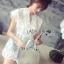 Lady Ribbon's Made Abigail Pretty and Sexy White Lace Mini Dress thumbnail 2