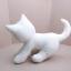 ตุ๊กตาแมวหมอบ สีขาว Kitten Cat Softy Toy - White thumbnail 3