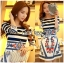Lady Jennifer Casual Chic Striped and Floral Printed Dress thumbnail 6