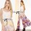 Lady Ribbon's Made Lady Vanessa Summer Colourful Floral Printed Long Dress thumbnail 4