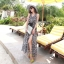 Cliona made' Lucy Charming Grey Summer Beach Long Dress thumbnail 3