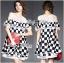 Lady Ribbon's Made Lady Isabella Smart Off-Shoulder Check Printed Cotton Dress thumbnail 3