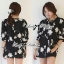 Lady Ribbon's Made Lady Helena Floral Monochrome Mini Dress thumbnail 2
