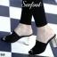รองเท้าสวย แมกซี่สวมส้นตัน หนังสักหลาดนิ่มมากคะ ส้นหนังกระจกสีทอง สูง3.5นิ้ว thumbnail 3