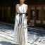 Jolie By D-Sai JumpSuit Chiffon Stripe White & Black Style Korea thumbnail 5