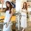 Lady Ribbon's Made Lady Ribbon White Floral Embellish Lace Maxi thumbnail 1