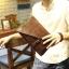 พร้อมส่ง กระเป๋าคลัทซ์ สีน้ำตาล หนังPU กระเป๋าผู้ชาย thumbnail 2