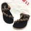 รองเท้าแตะส้นเตี้ยแบบหูคีบนิ้วโป้งแต่งอะไหล่เพชรด้านหน้า แบรนด์ cavawia thumbnail 2