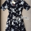 Lady Ribbon's Made Lady Rosie Classic Black and White Flowery Print Dress thumbnail 6
