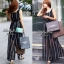 Jolie By D-Sai JumpSuit Chiffon Stripe White & Black Style Korea thumbnail 3