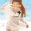 Creamy Beach&Sand Embroider Net Long Blouse by Seoul Secret thumbnail 2