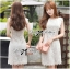 Lady Ribbon's Made Lady Jessica Classic Lace Dress in Ivory thumbnail 8
