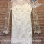 Champagne divine soft flowers lace dress thumbnail 7