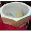เต็นท์ 8 เหลี่ยมพับได้ สีชมพู-ขาว ขนาด 50*100 ซม. thumbnail 1