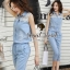 Seoul Secret Say's... Layla PlaySuits Denim Lace thumbnail 7