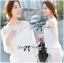 Lady Ribbon's Made Lady Aerin Pretty Insert Lace White Chiffon Blouse thumbnail 3