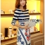 Lady Jennifer Casual Chic Striped and Floral Printed Dress thumbnail 2