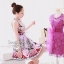 Multicolored Sleeveless Dress & Purple Ribbon by Seoul Secret thumbnail 4