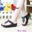 รองเท้าแฟชั่นสไตล์ fitflop หูคีบแต่งดอกไม้น่ารัก thumbnail 2