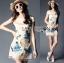 Lady Ribbon's Made Lady Hannah Sweet Feminine Satin and Flower Embroidered Organza Mini Dress thumbnail 5