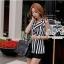 Black and white striped blazer-style set thumbnail 1