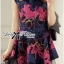 Lady Colourful Embroidered Mini Dress thumbnail 3