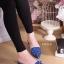 รองเท้าแฟชั่นคัทชูเปิดส้นหัวแหลมแต่งดอกไม้ด้านหน้า thumbnail 2