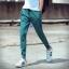พร้อมส่ง กางเกง Jogger pants สีเขียว ขาจั้ม ใส่สบาย แฟชั่นกางเกงขาจั้มพ์ผู้ชาย thumbnail 1