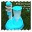 (พร้อมส่ง) ที่ให้น้ำและอาหารสุนัข สีฟ้า thumbnail 1