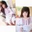 (ส่งฟรี EMS) Lady Ribbon's Made Red Floral Mini Dress Layer Skirt thumbnail 5
