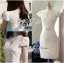 Lady Ribbon's Made Lady Lara High Classy See-Through Lace Dress in White thumbnail 7