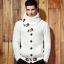 พร้อมส่ง เสื้อไหมพรมผู้ชาย สีขาวครีม ออกแบบเท่ห์ ใส่กันหนาวได้ ใส่คลุม แฟชั่นผุ้ชาย thumbnail 1
