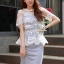 Chic White Organdy Blossom Match With Cotton Fabric Dress by Seoul Secret thumbnail 4