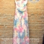 Pastel flowers paint maxi dress thumbnail 4