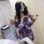 Brand:Varithorn@Violet purple Ruffle top wz Skirt violet purple Set thumbnail 3