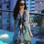 (ส่งฟรี EMS) Sevy Bohemian Satin Classy On The Beach Dress thumbnail 8