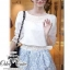 Dior fresh lace t-shirt plus printing skirt with belt thumbnail 4