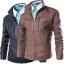 พรีออเดอร์ เสื้อแจ็คเก็ตหนังPU หนังด้าน ทรงเรียบ แต่งซิปแนวตรงช่วงหน้าอกเท่ห์ๆ เสื้อขี่มอเตอร์ไซค์ thumbnail 1