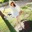 White fairy pleated mini dress thumbnail 5