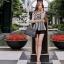 Black and white striped blazer-style set thumbnail 3
